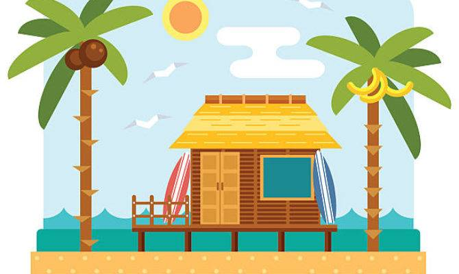 Beach Hut Clip Art Vector