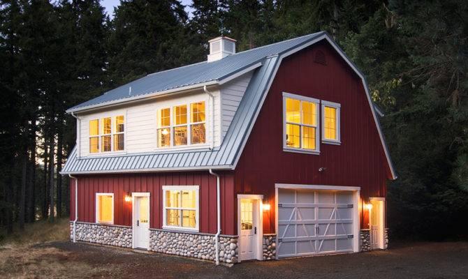 Beautiful Barn Shaped Metal Building Home