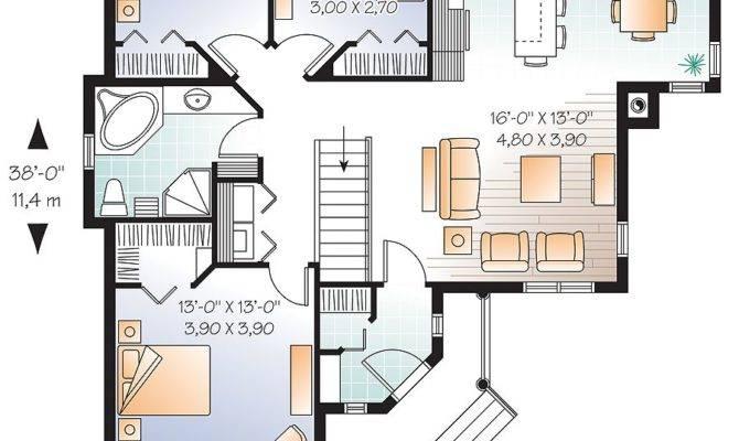 Beautiful Bedroom Bungalow Open Floor Plan