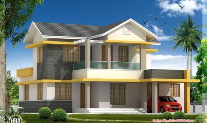 Beautiful Bedroom House Elevation Feet Kerala Home