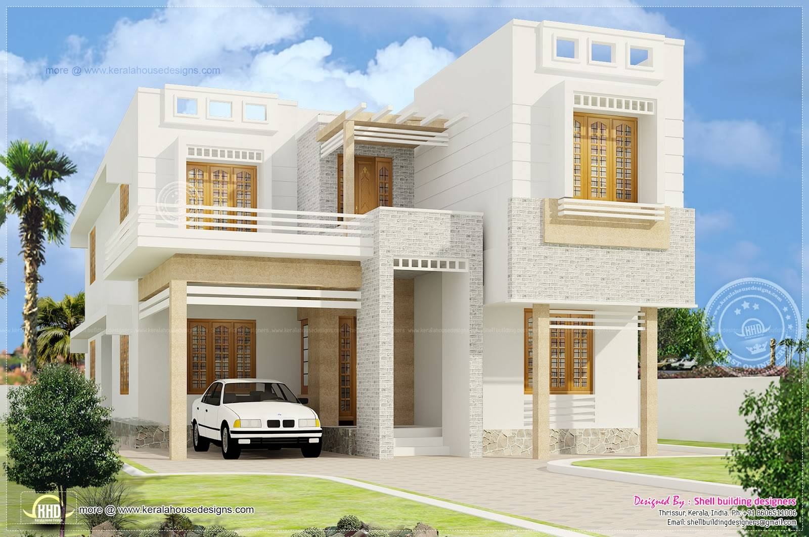 Beautiful Bedroom House Exterior Elevation Design Plans 83915