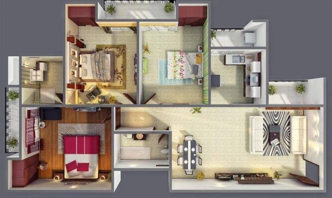 Beautiful Bedroom Houses Interior Design Ideas
