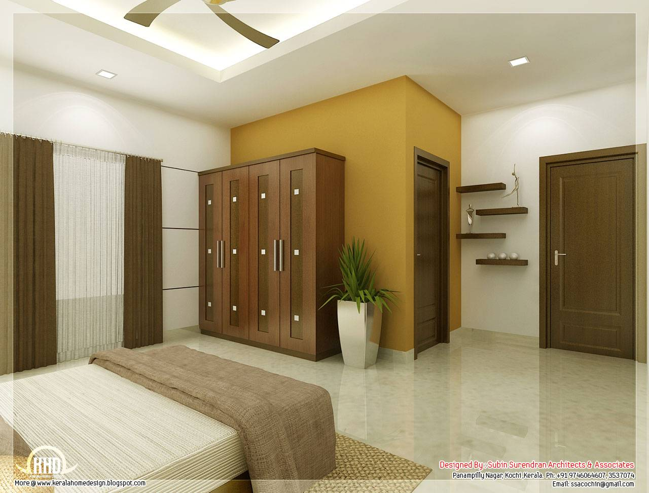 Beautiful Bedroom Interior Designs Kerala House Design House Plans 129633