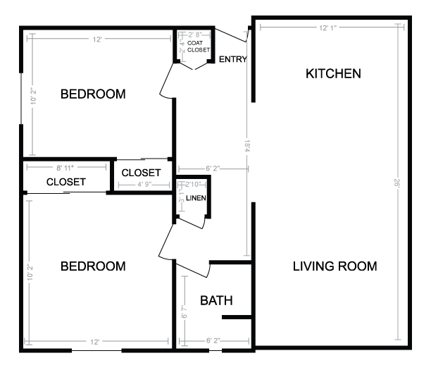 20 Pictures Two Bedroom Floor Plans House Plans