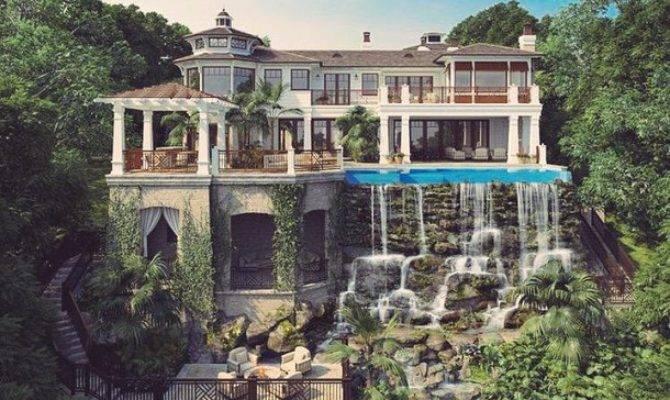 Beautiful Big Dream Home Exterior House