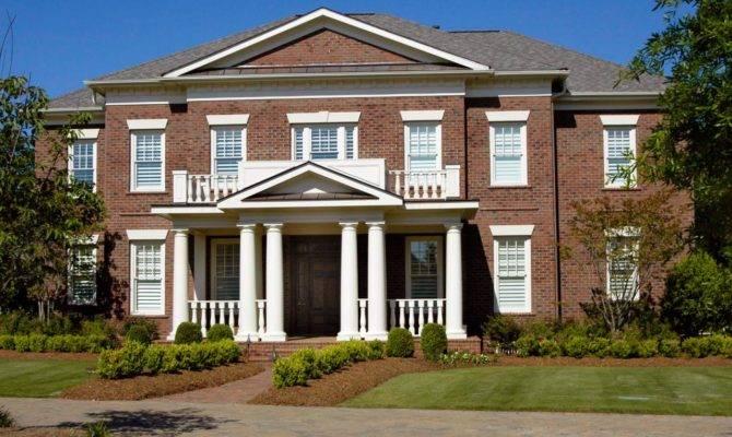 Beautiful Brick Homes Outdoor Design Landscaping Ideas