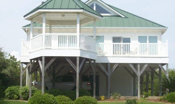 Beautiful Coastal House Plans Pilings Beach