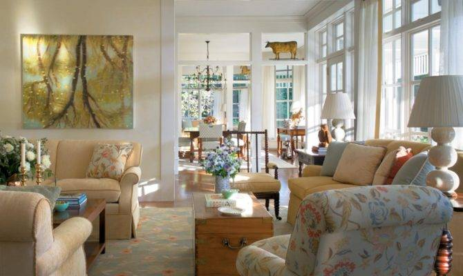 Beautiful Country Living Rooms Facemasre