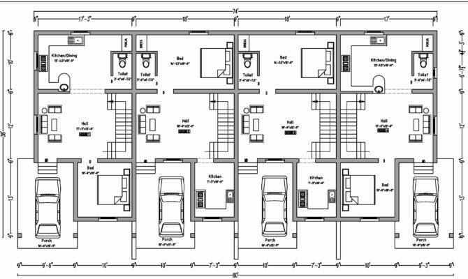 Beautiful Duplex Floor Plans Garage Home Idea