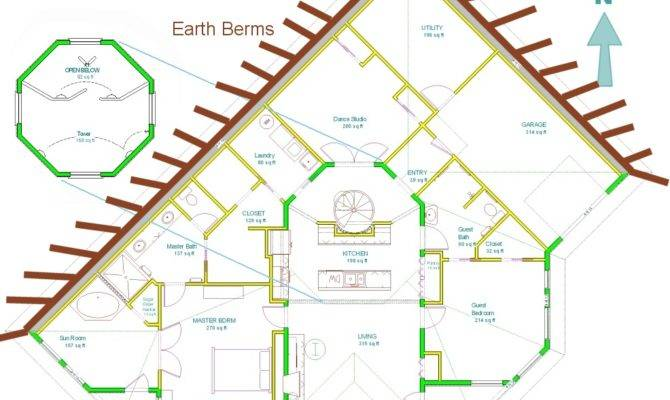 Beautiful Earth House Plans Sheltered Home