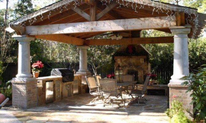 Beautiful Gazebo Fireplace Ideas Both Unit