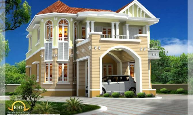 Beautiful House Elevation Kerala Home Design Floor