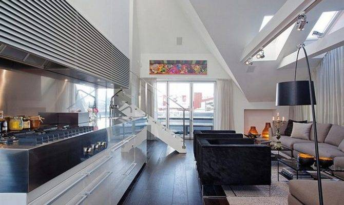 Beautiful Kitchen Design Loft Apartment