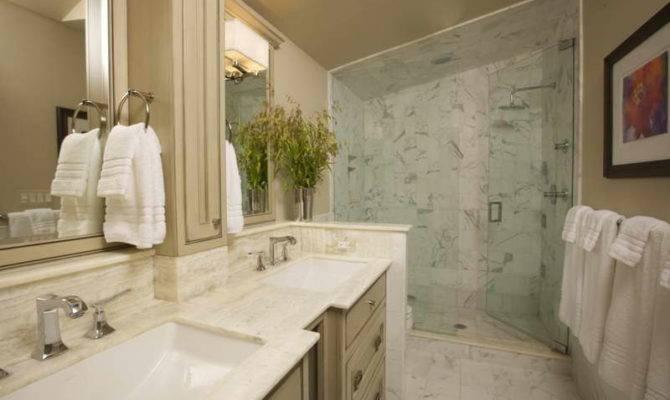 Beautiful Marbled Bathroom Long Narrow Design Ideas