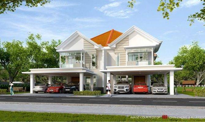 Beautiful Modern Design Double Storey Semi Detached House
