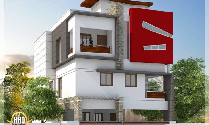 Beautiful Modern Storey House Tamilnadu Villa Kerala
