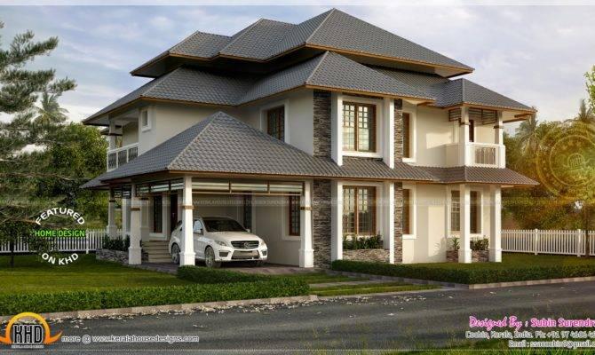 Beautiful Modern Traditional Mix Home Kerala Design Floor