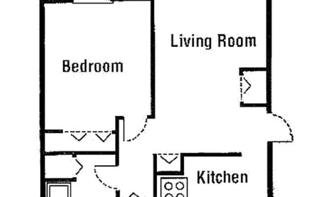 Beautiful Simple One Bedroom House Plans Hall Kitchen