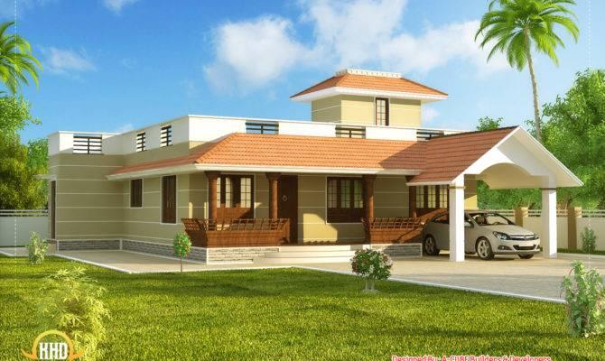 Beautiful Single Story Kerala Model House Home Appliance