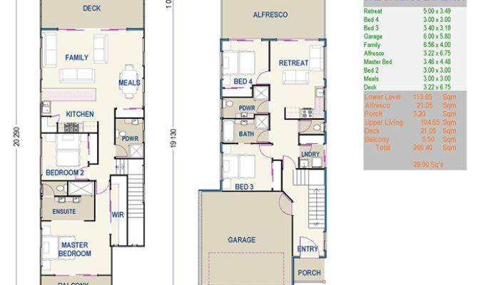 Beautiful Small Duplex House Plans Narrow Lot