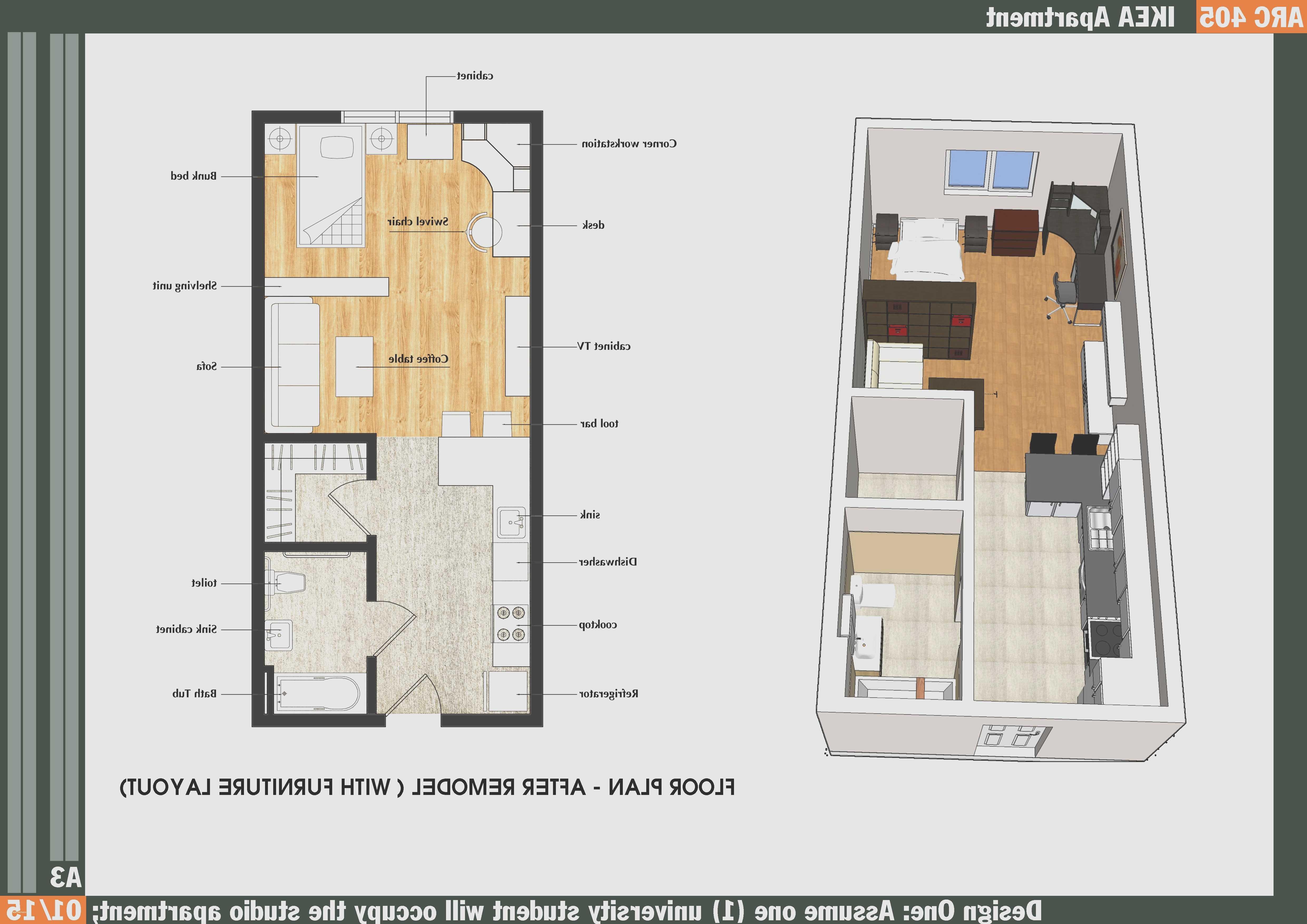 Beautiful Small Studio Apartment Floor
