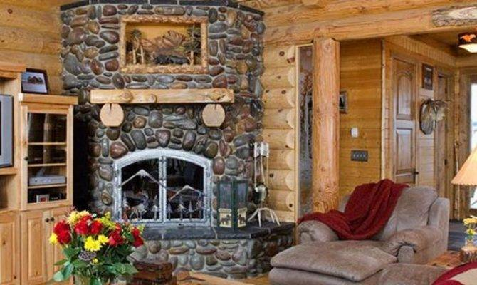 Beautiful Stone Fireplaces Rock