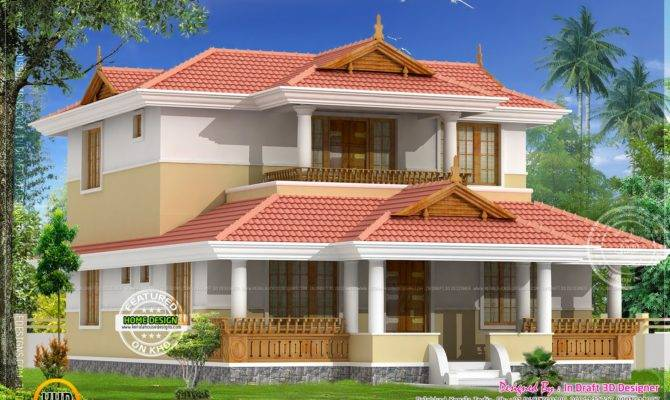 Beautiful Traditional Home Elevation Kerala Design