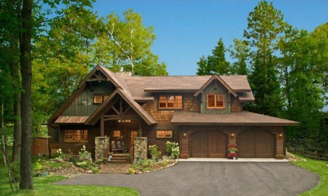 Beautiful Two Storey Rustic House Designed American Company
