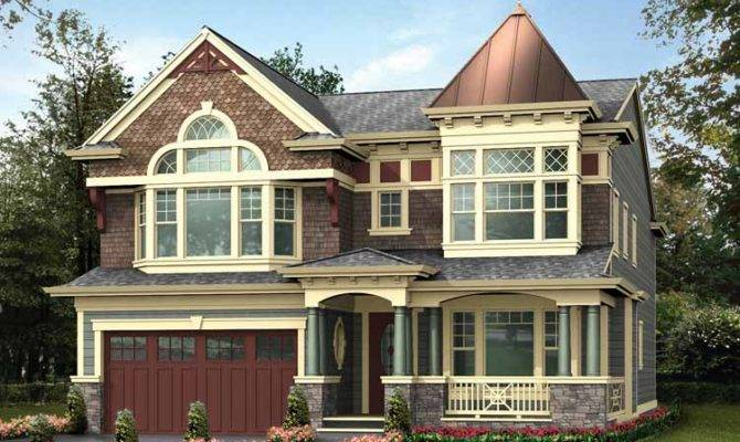 Beautiful Two Story Victorian House Building Plans