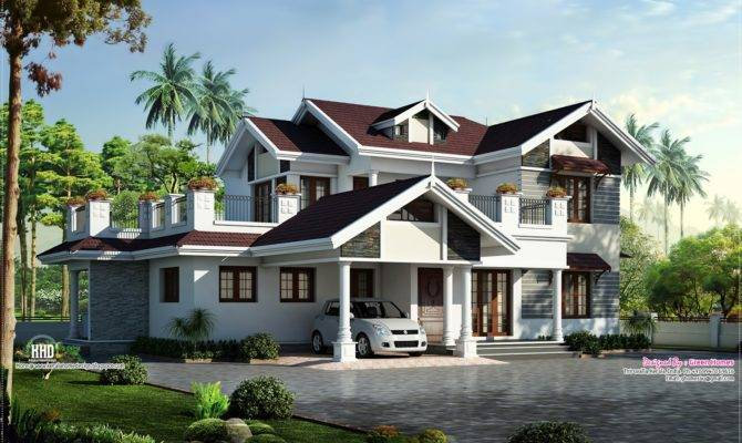 Beautiful Villa Design Feet Kerala Home
