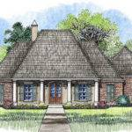 Bed Acadian House Plan Bonus Room