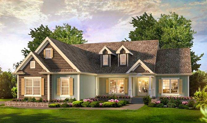 Bed Country Ranch Home Plan Architectural