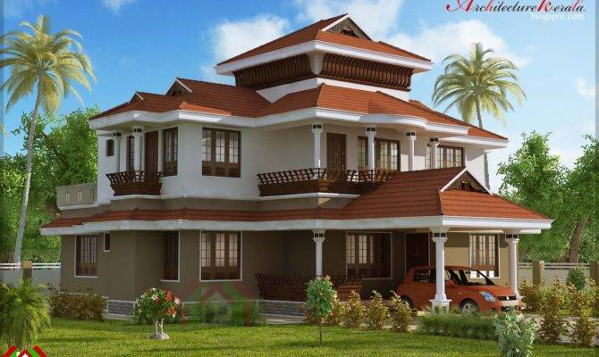 Bed Room Traditional Style House Architecture Kerala