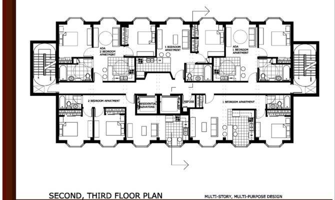 Bedroom Apartment Building Floor Plans Hobbylobbys Info