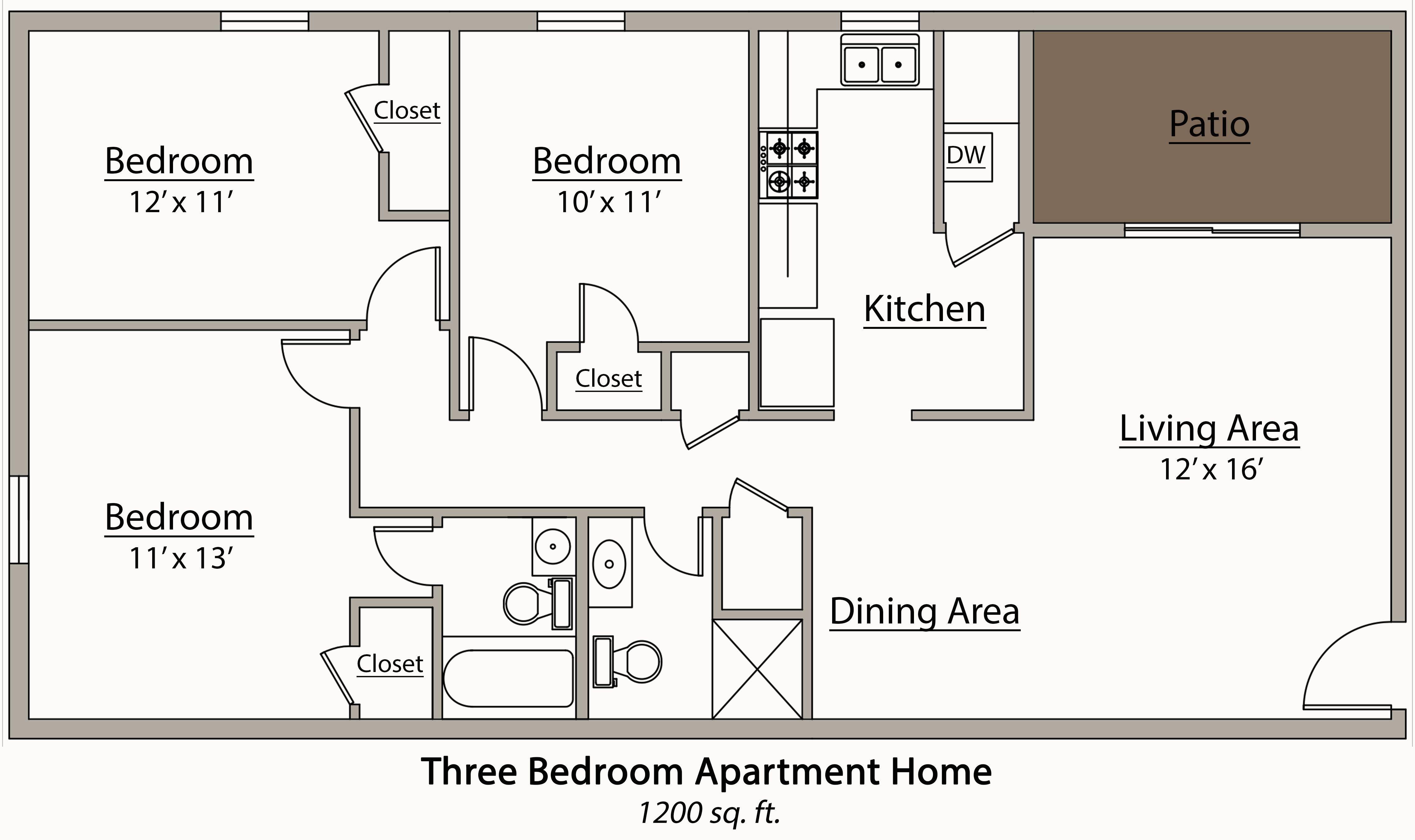 27 Surprisingly 3 Bedroom Floor Plan House Plans