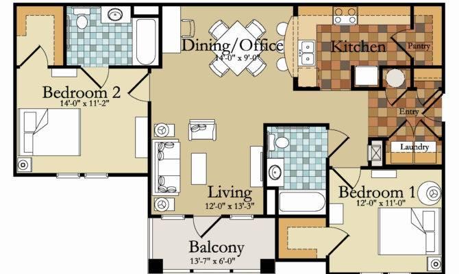 Bedroom Apartment Floor Plan Ideas Latest