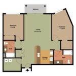 Bedroom Apartment Floor Plans Archives Design Bookmark