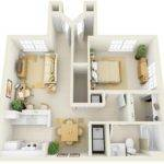 Bedroom Apartment House Plans Home Decor Design