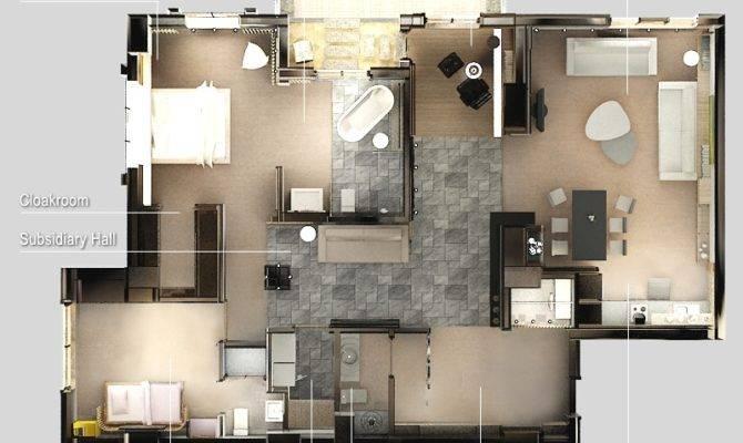 Bedroom Apartment House Plans Smiuchin