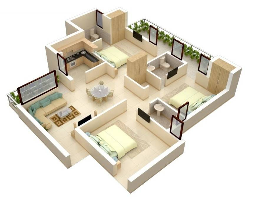 Bedroom Apartment House Plans House Plans 125169