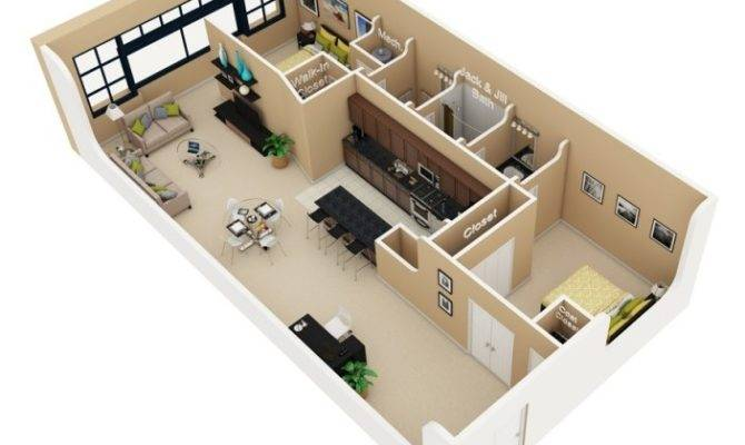 Bedroom Apartment House Plans
