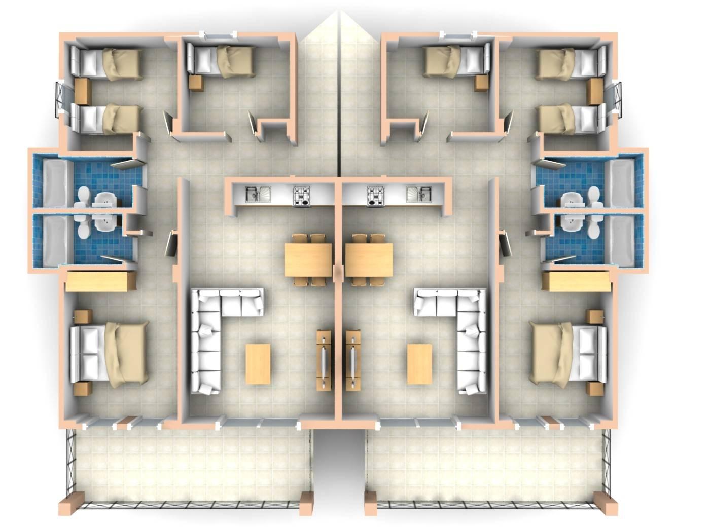 26 Decorative 3 Bedroom Apartment Plan House Plans