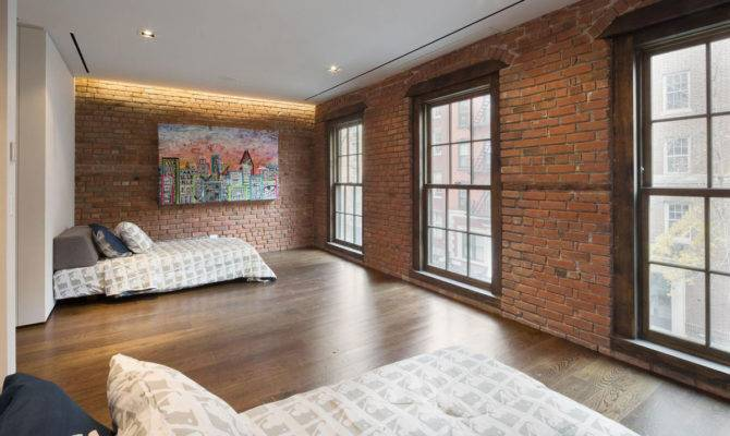 Bedroom Art Converted Townhouse Greenwich Village New York