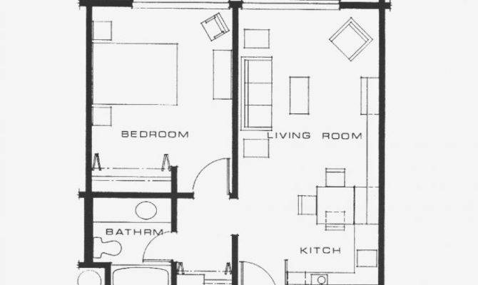 Bedroom Bath Apartment Floor Plans Archives