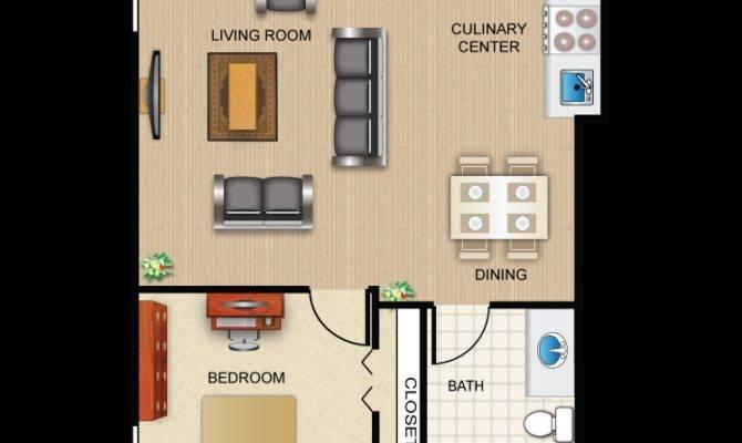 Bedroom Bath Apartment Floor Plans