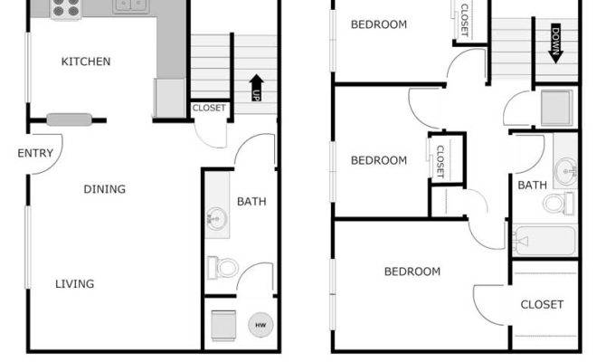 Bedroom Bath Apartment Parkway Townhomes