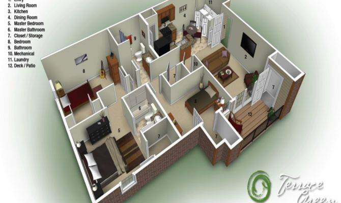 Bedroom Bath Apartment