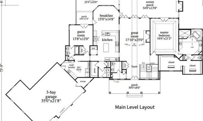 Bedroom Bath Cabin Lodge House Plan Alp