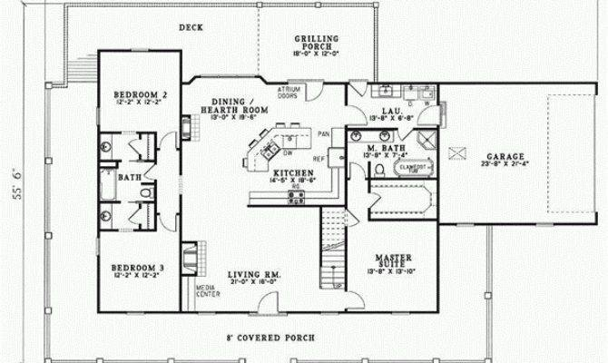Bedroom Bath Country Home Plans Savae