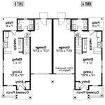 Bedroom Bath Duplex Floor Plans Two One